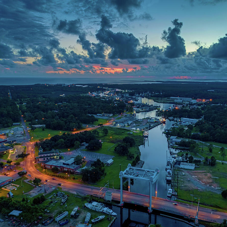 Beautiful Bayou Sky at Dusk by Brad Boland