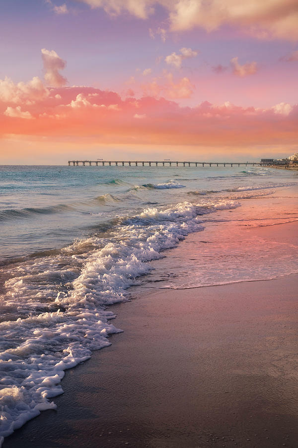 Clouds Photograph - Beautiful Beach Day by Debra and Dave Vanderlaan