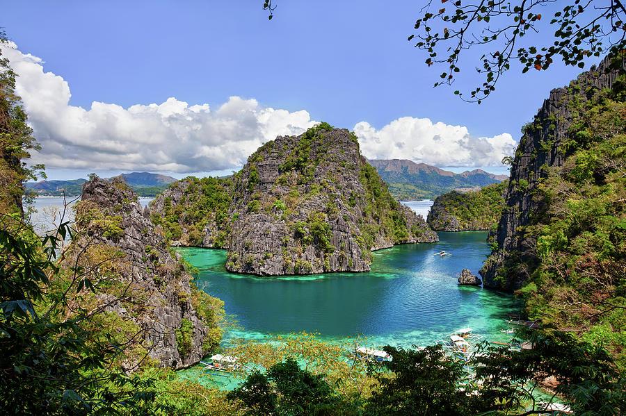 Beautiful Blue Lagoon At Kayangan Lake Photograph by Fototrav