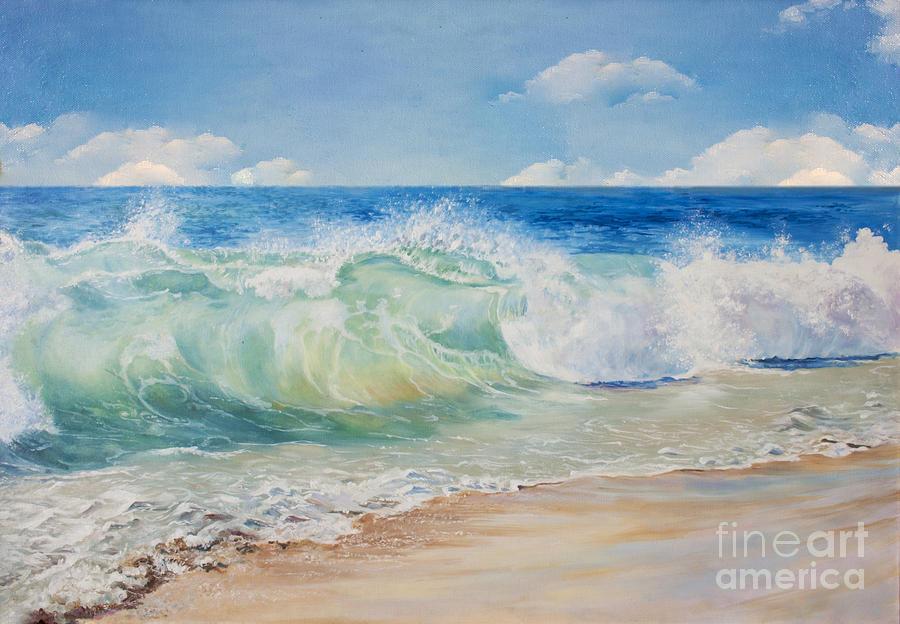 Beauty Digital Art - Beautiful Blue Tropical Sea And Beach by Elzza