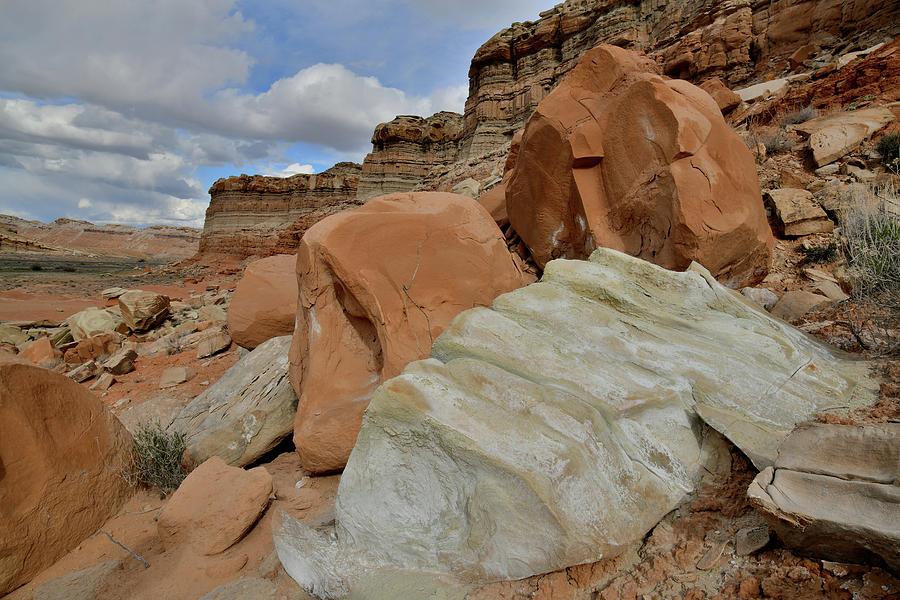Beautiful Boulders along I-70 near San Rafael Swell by Ray Mathis