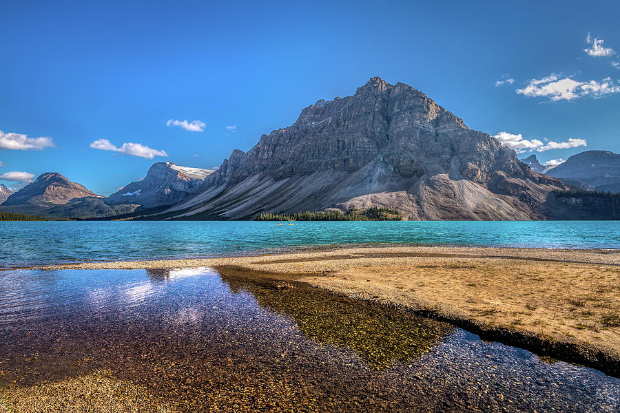 Beautiful Bow Lake and Crowfoot Mountain by Andy Konieczny