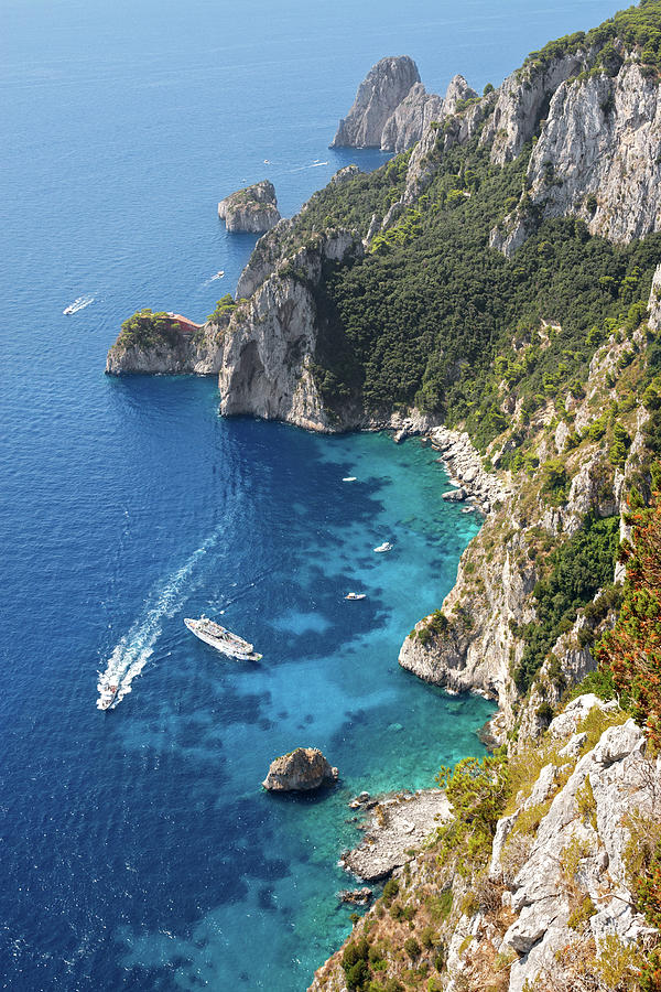 Scenic Photograph - Beautiful Capris Sea by Pierpaolo Paldino