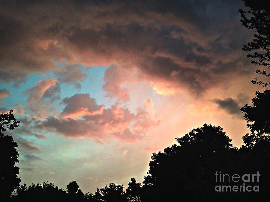 Beautiful Colored Sky Photograph