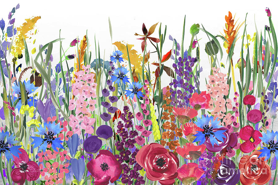 Beautiful Country Meadow by Jean Plout