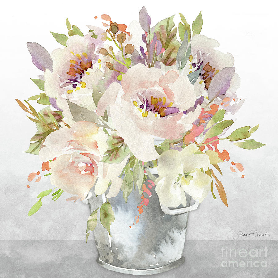 Beautiful Floral Bouquet A Painting By Jean Plout