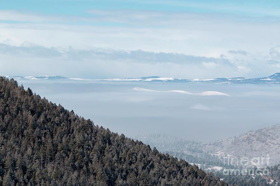 Beautiful Foggy Sangre De Cristo Mountain Valley Photograph