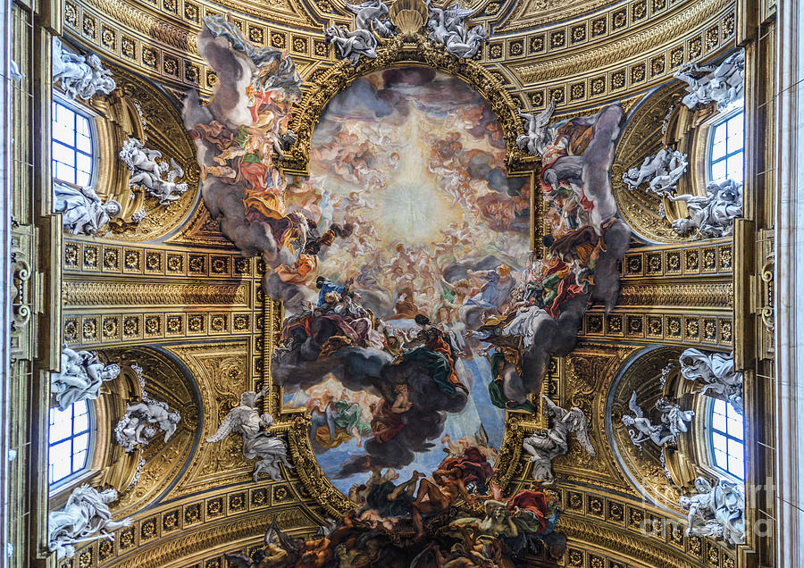 Beautiful Frescos On Ceiling Of Church Photograph by Starcevic