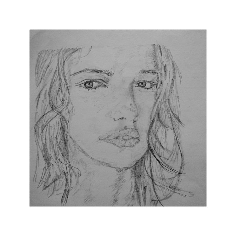 Beautiful girl face sketch