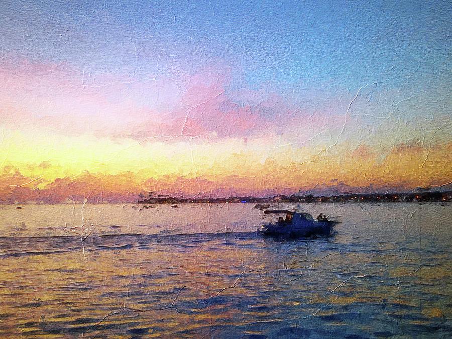 Beautiful Horizon Sunset On Adriatic Sea Painting By Nenad Cerovic