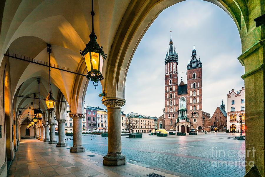 Poland Photograph - Beautiful Krakow Market Square Poland by Sopotnicki
