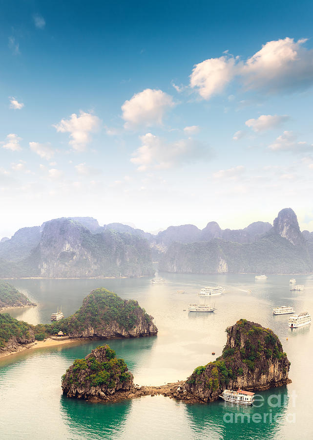 Panoramic Photograph - Beautiful Landscape Of Halong Bay In by Banana Republic Images
