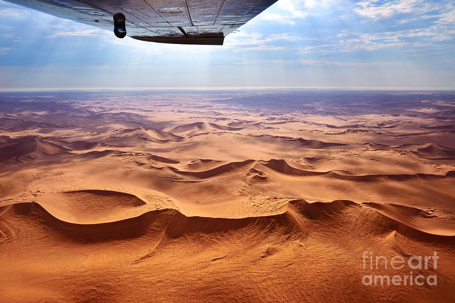 Plane Photograph - Beautiful Landscape Of The Namib Desert by Oleg Znamenskiy