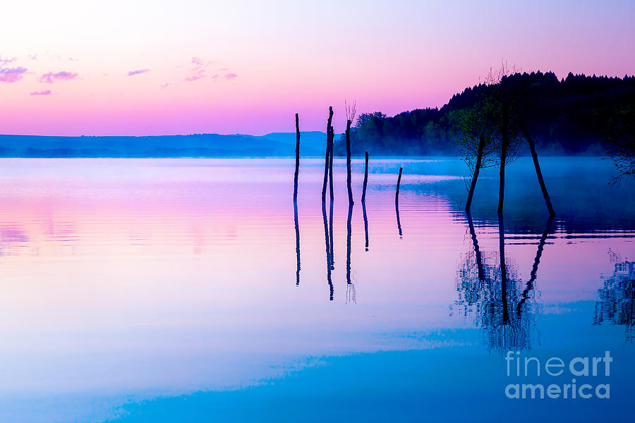 Magic Photograph - Beautiful Landscape With A Lake by Jozef Klopacka