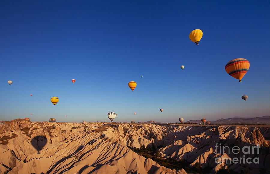 Beauty Photograph - Beautiful Landscape With Hot Air by Song about summer