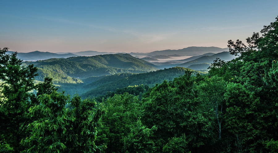 beautiful mountain scenery in north carolina by ALEX GRICHENKO