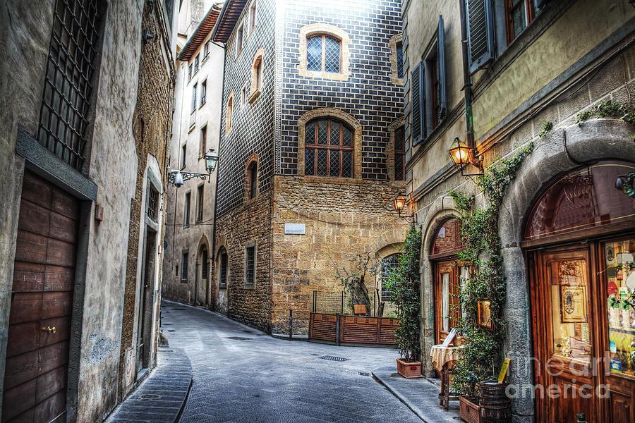 De Photograph - Beautiful Narrow Street In Florence by Gabriele Maltinti