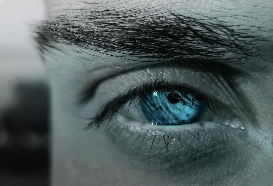 Beautiful Ocean Blue Eye Photograph By Enes Hamzi