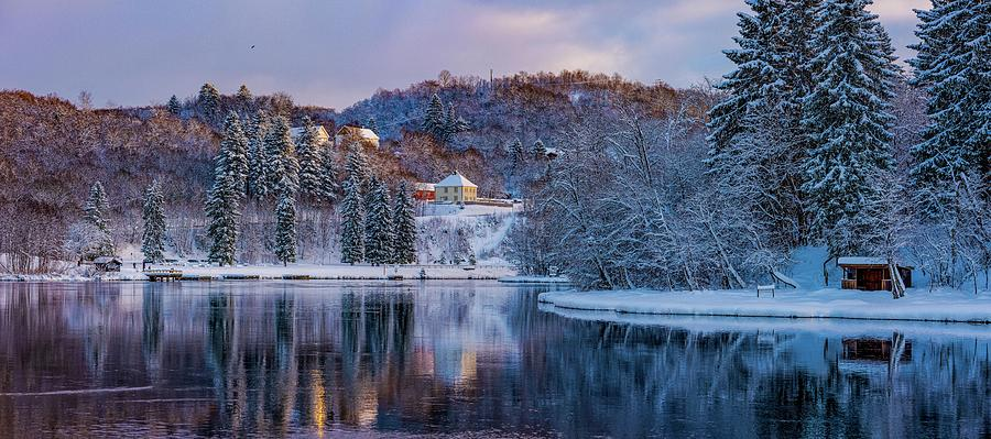 Beautiful panorama from Nedre Leirfossen in Trondheim  by Aziz Nasuti