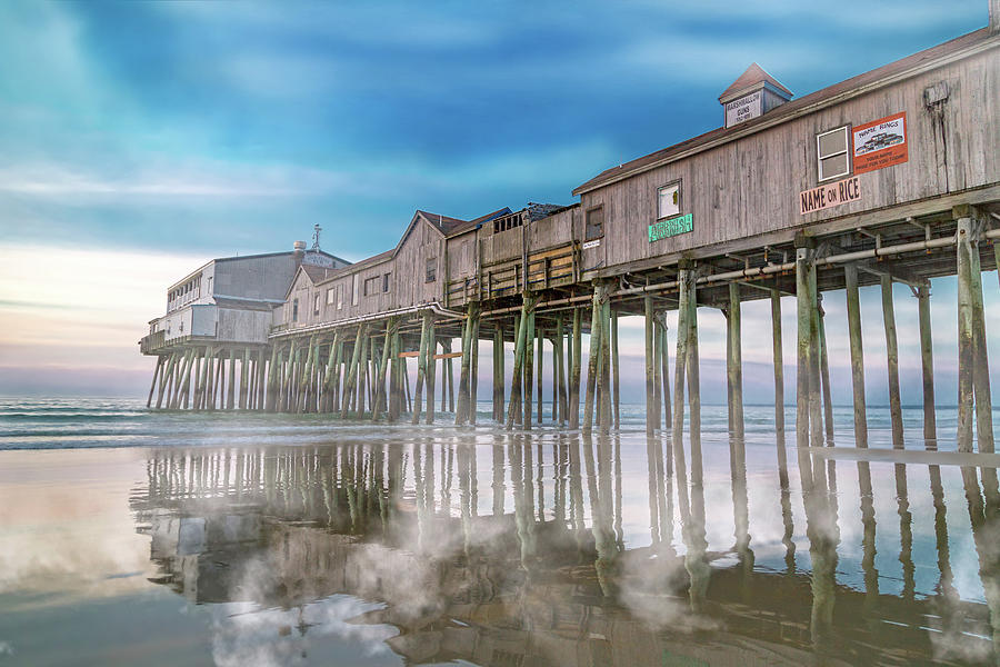 Old Photograph - Beautiful Pier Maine Morning by Betsy Knapp