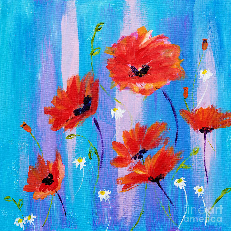 Beautiful Poppies by Art by Danielle