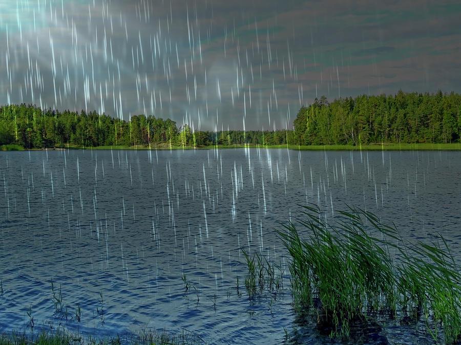 Beautiful Rainy Morning In The Archipelago by Johanna Hurmerinta