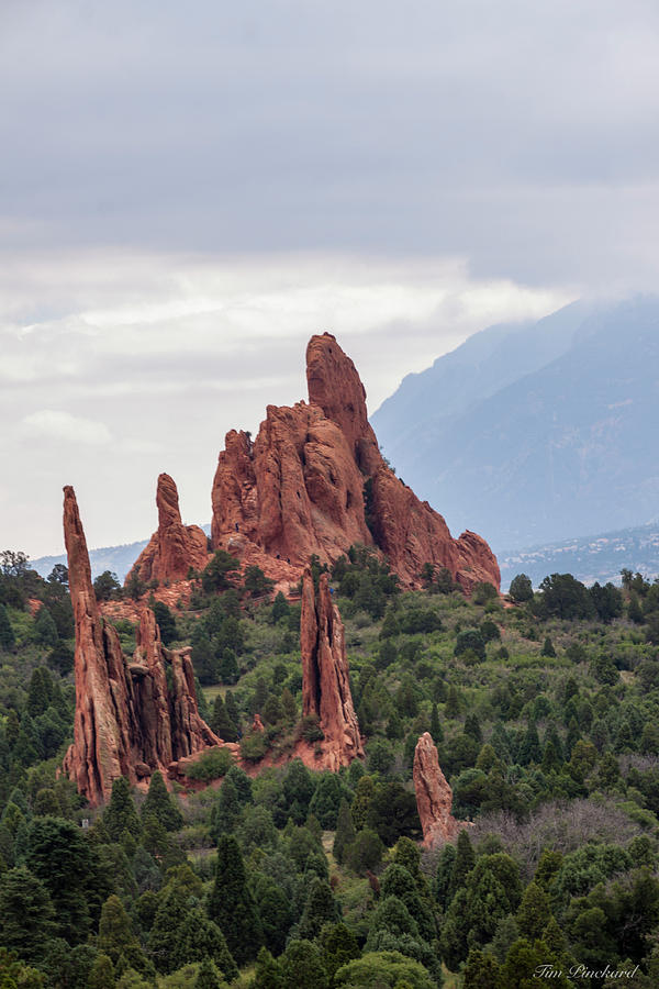 Beautiful red rock spires reaching for the sky. by Timothy Pinckard