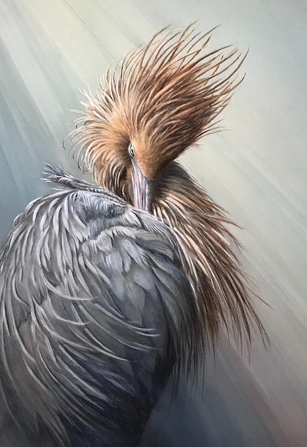 Reddish Painting - Beautiful Redhead by Cathleen Savage