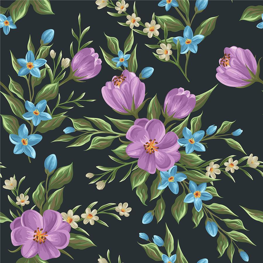 Beautiful retro flower seamless pattern by freedesignfile