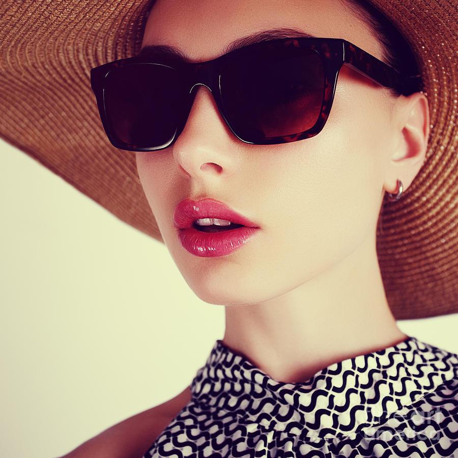 Dress Photograph - Beautiful Sensual Young Brunette Woman by Yuliya Yafimik