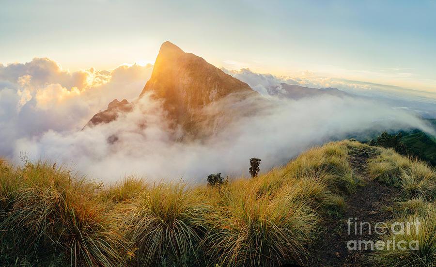 Sunrise Photograph - Beautiful Sunrise In The Mountains by Nina Lishchuk