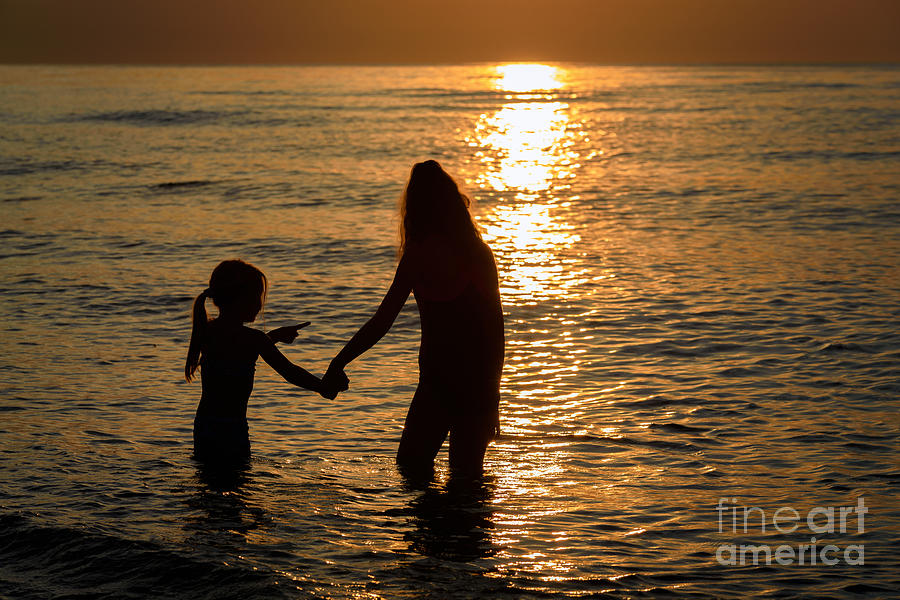 Beautiful Sunset By The Sea Photograph