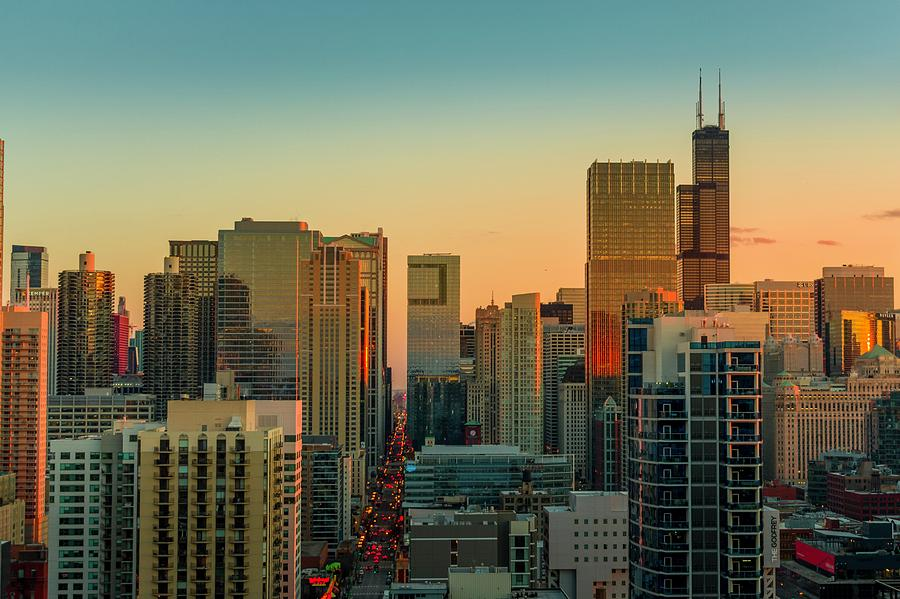 Beautiful Sunset - Chicago, IL by Bobby King
