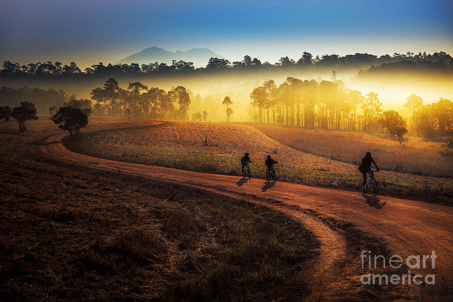 Big Photograph - Beautiful Sunset Of Travel Place In by Travel Mania