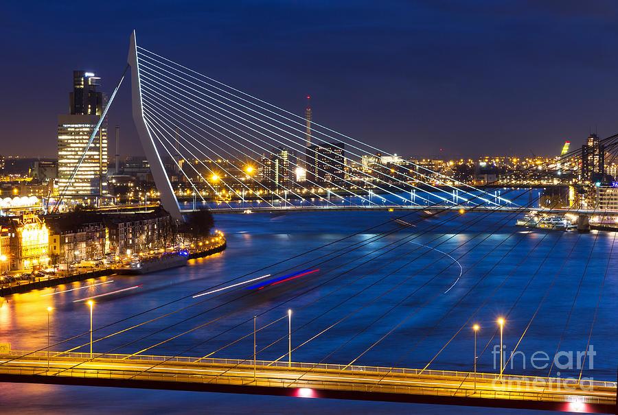 Dusk Photograph - Beautiful Twilight View On The Bridges by Dennis Van De Water
