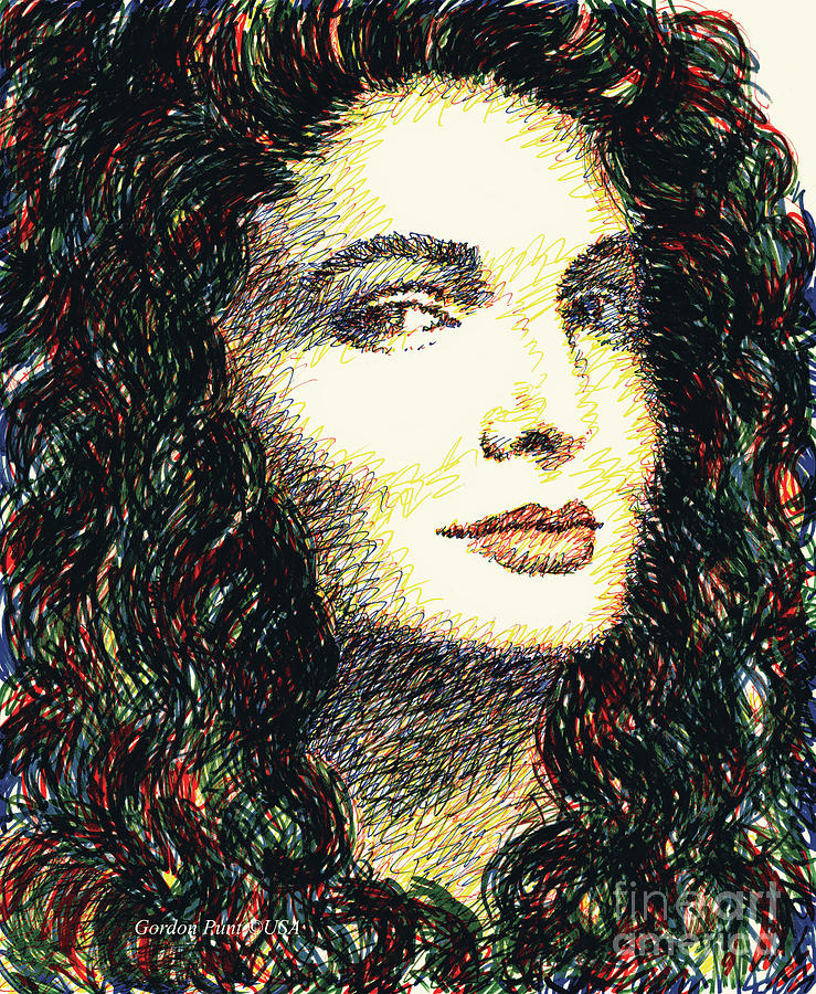 Beautiful Women Drawings-1 by Gordon Punt
