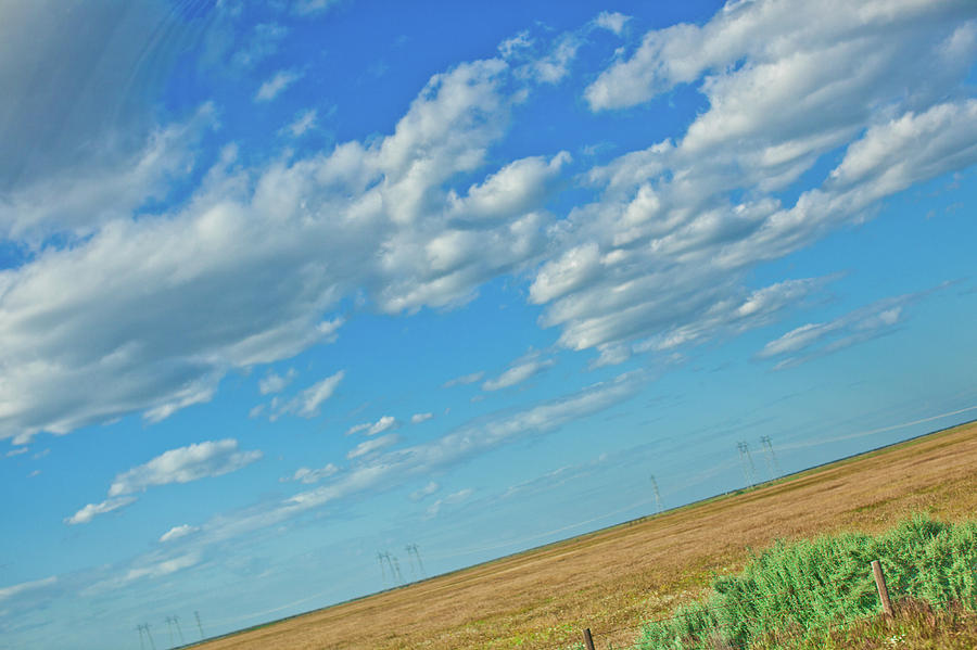 beautifull californian blue sky with cloud formations by Kim Vermaat