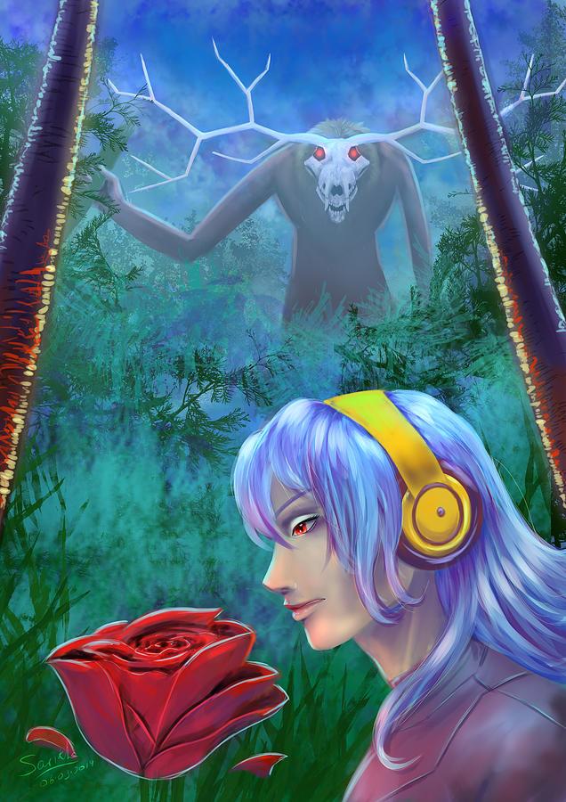 Beauty And The Beast Digital Art By Sarikha