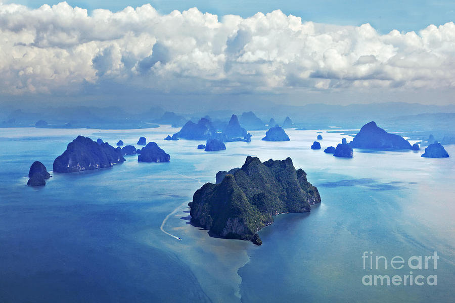 Plane Photograph - Beauty Islands Like On Mars, Aerial by Saiko3p