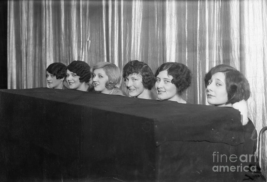 Beauty Pageant Contestants Photograph by Bettmann
