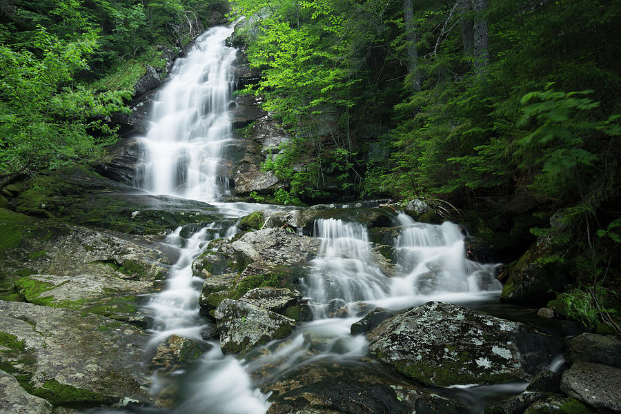 Beaver Brook Cascades, New Hampshire by Greg Parsons