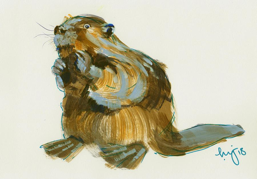 Beaver painting by Mike Jory