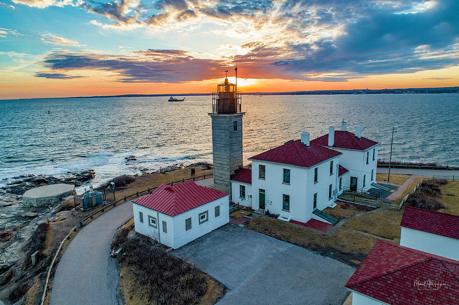Beaver Tail Lighthouse  by Michael Hughes