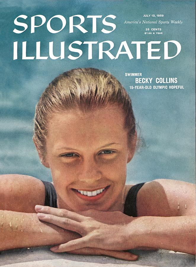 Becky Collins, 1959 Womens Aau National Championships Sports Illustrated Cover Photograph by Sports Illustrated