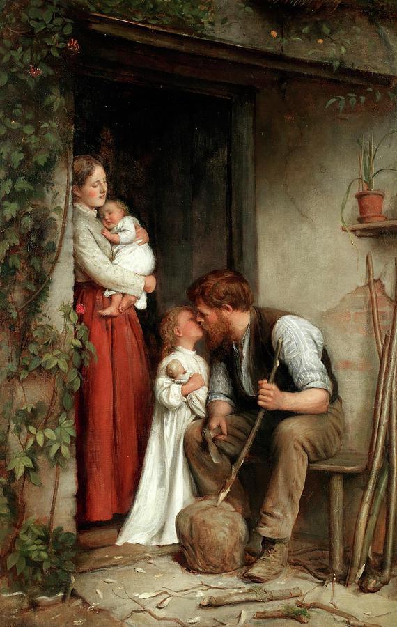 Clark Painting - Bedtime by Joseph Clark