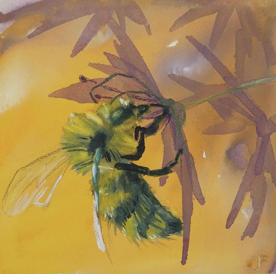 Bee On Allium by Jani Freimann