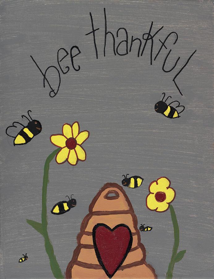 Beehive Photograph - Bee Thankful by Nina Marie