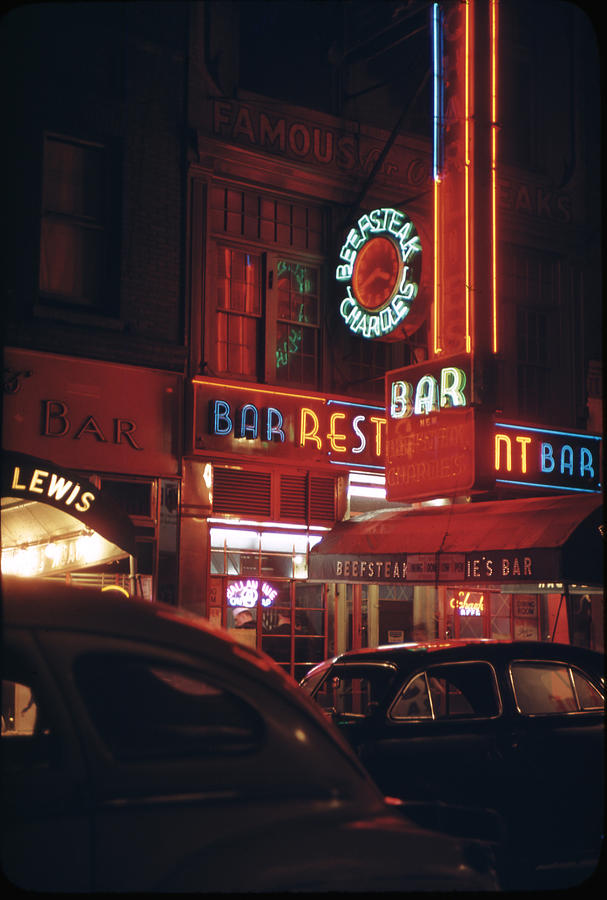 Beef Steak Charlies Photograph by Andreas Feininger