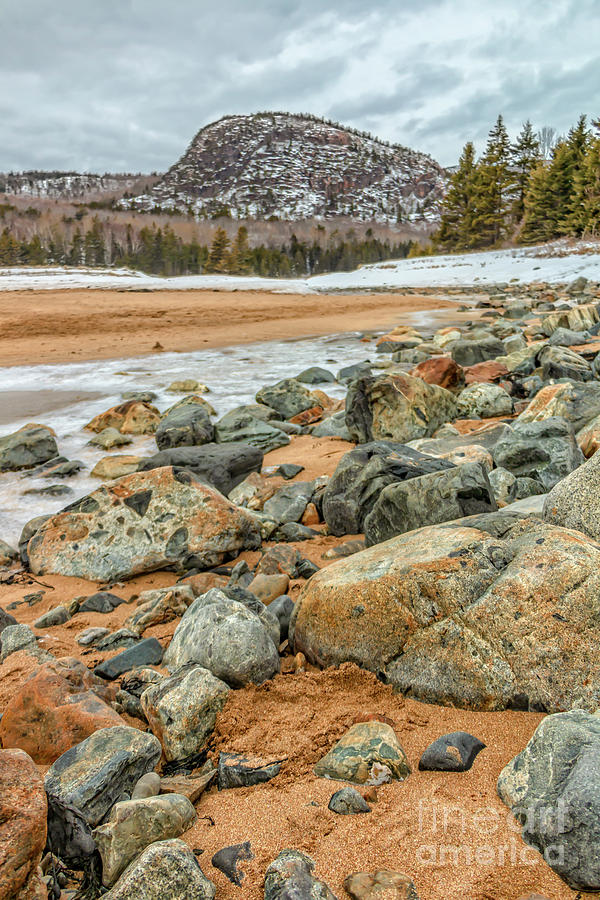 Beehive Mountain Acadia National Park Photograph
