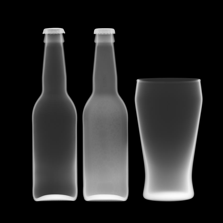 Beer Bottles And Drinking Glass Photograph by Nick Veasey